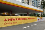 A Shell petrol station in Singapore.