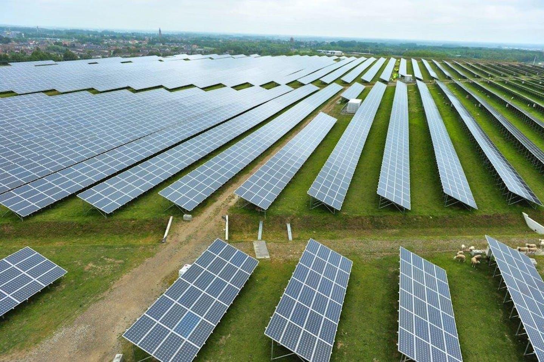 solar panels belgium side view
