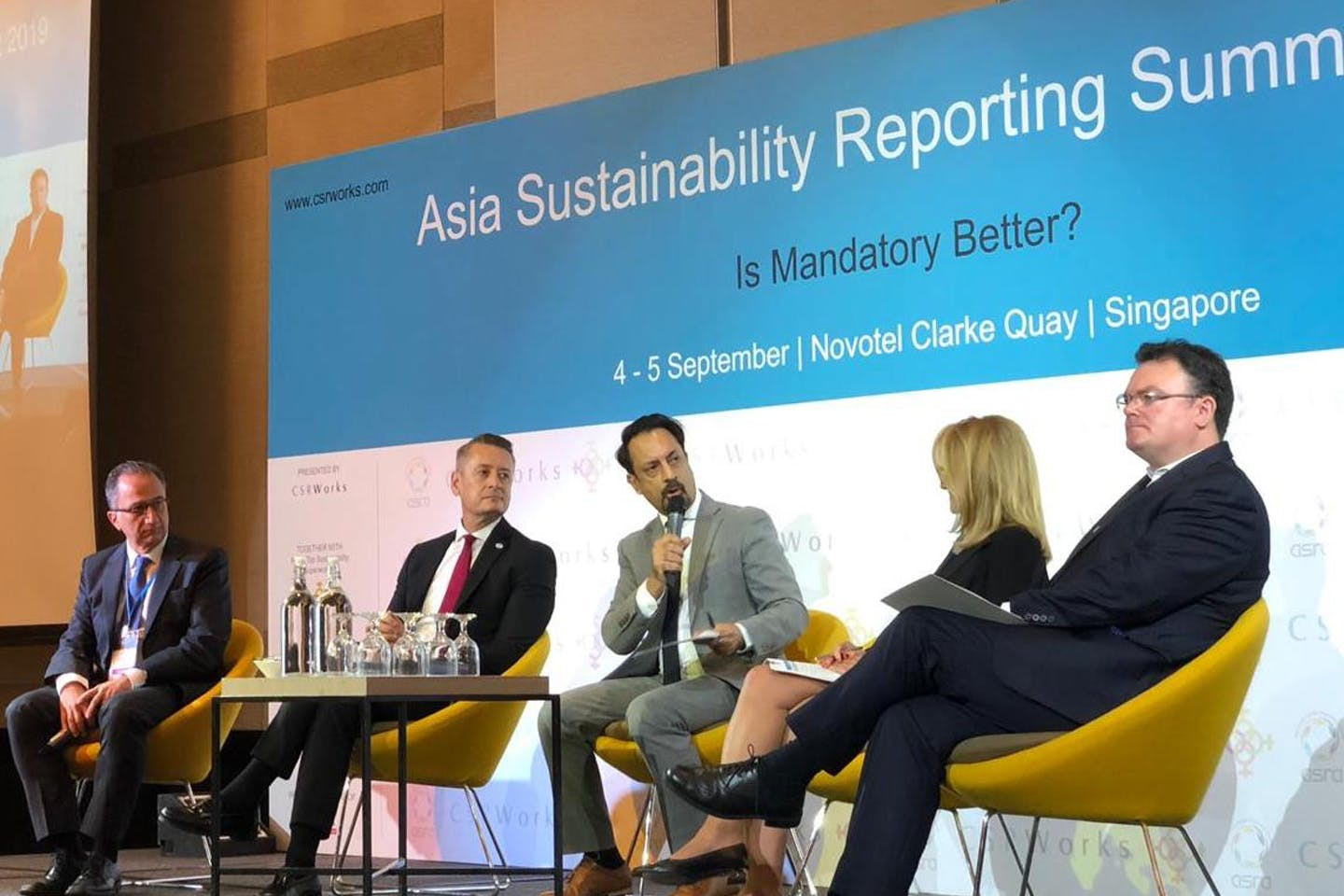 Panelists at the 2019 Asian Sustainability Reporting Summit