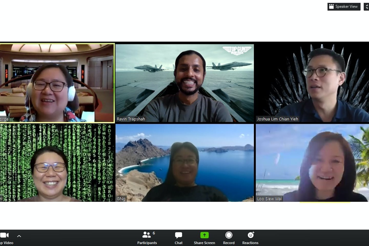 Wilmar International's sustainability team engaged in a Zoom meeting