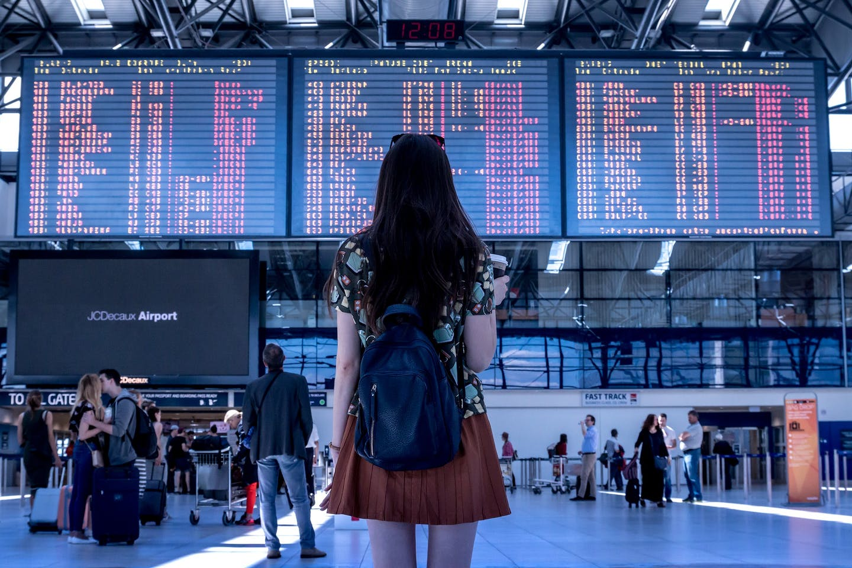 traveler at airport