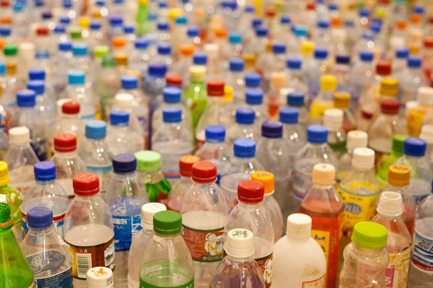 A sea of plastic bottles. Image: Tom Page, CC BY-SA 2.0