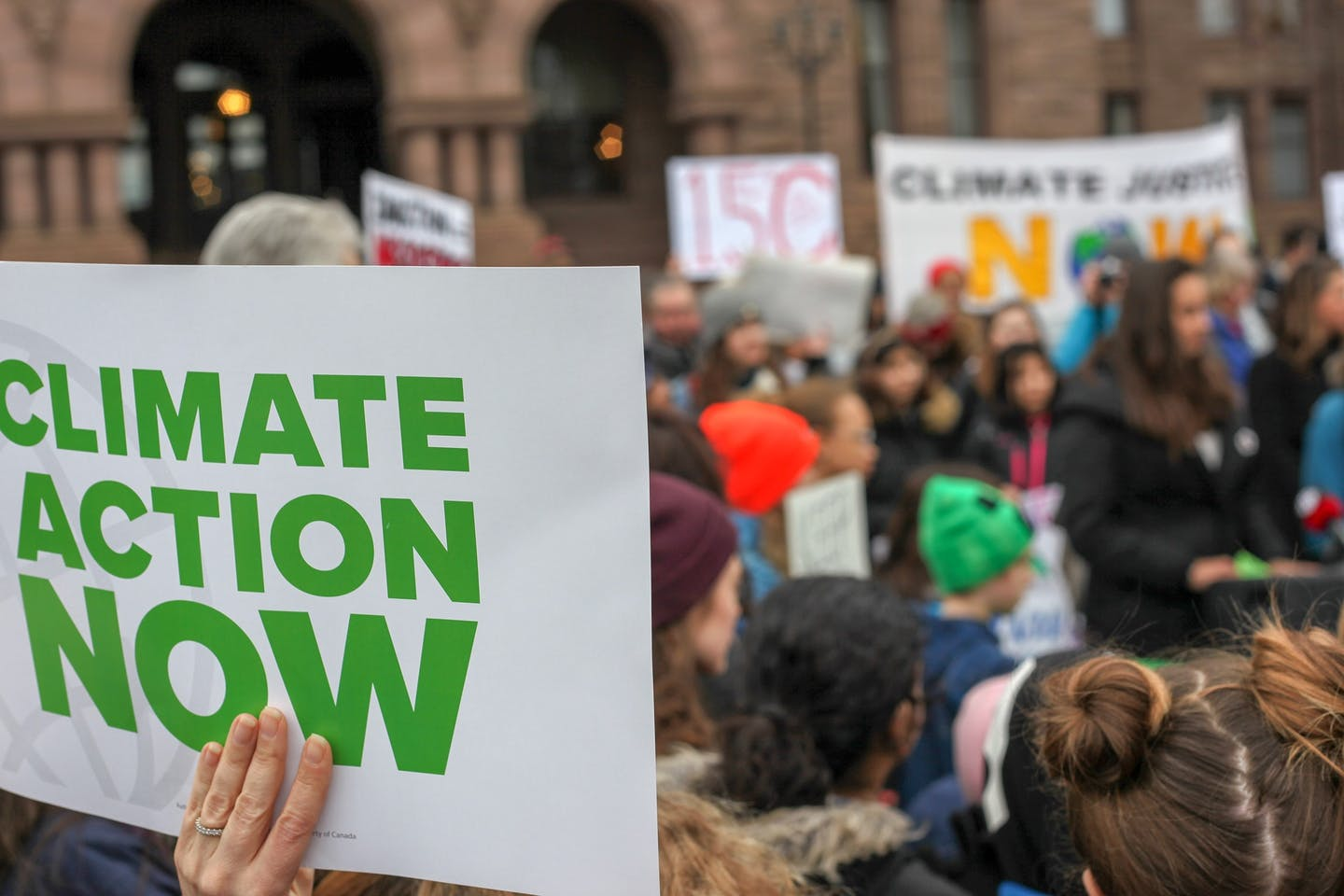 climate action now sign
