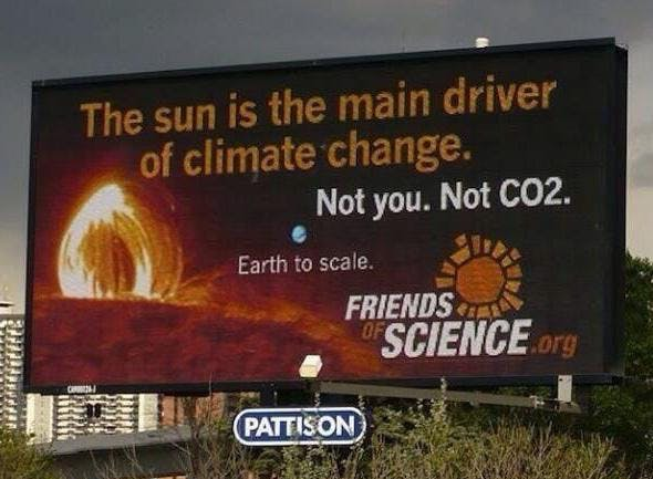 Climate denial. Image: Friends of Science
