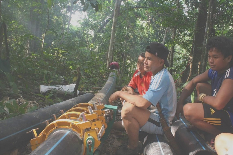 Indigenous villagers, Borneo