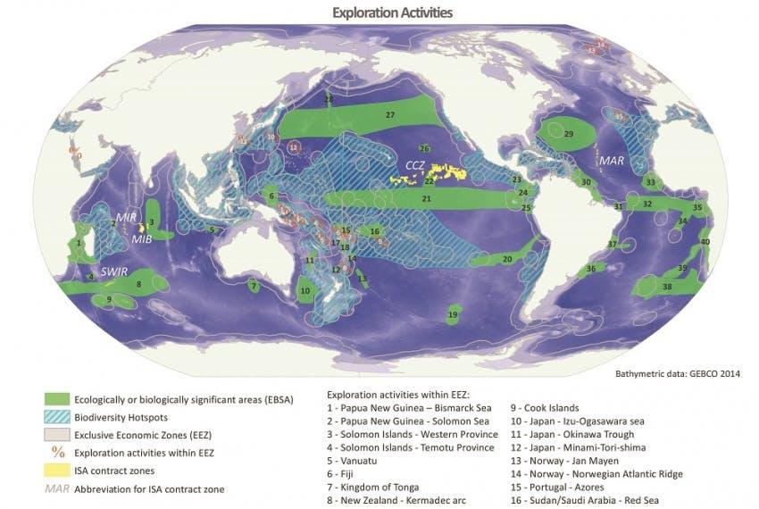 Deep-sea mining exploration activities