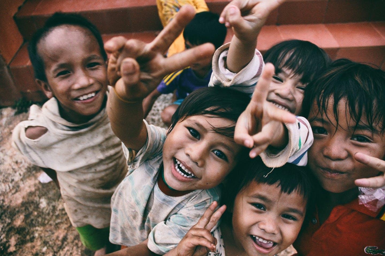 happy children in Vietnam