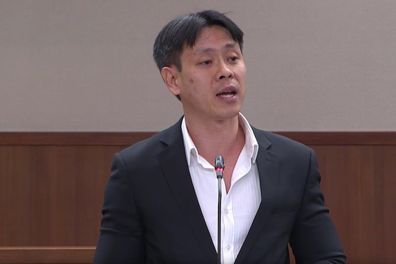 Louis Ng speaking in parliament in 2018.