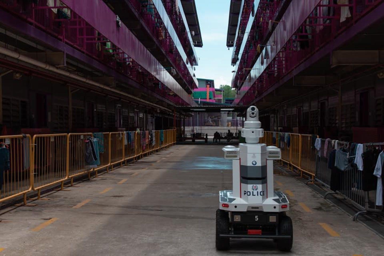 robot in migrant workers dormitory