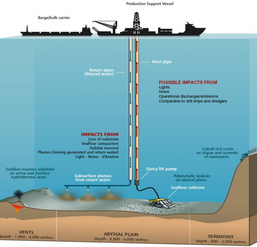 Possible impacts from deep-sea mining