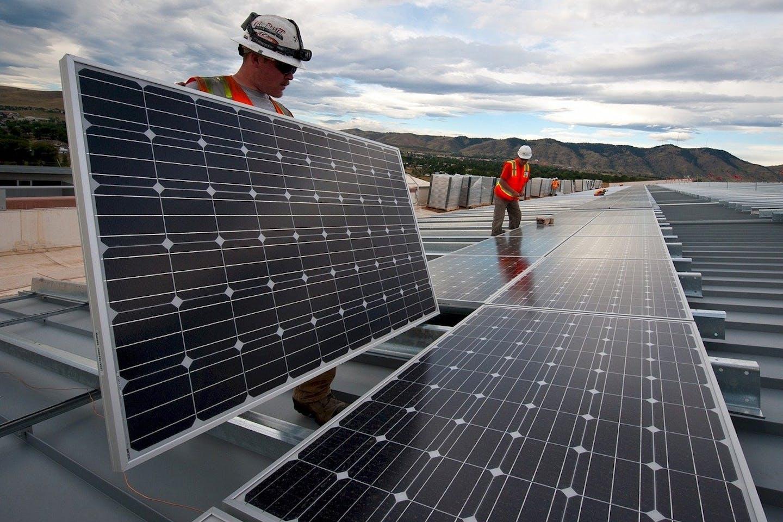 installing solar panels AMS