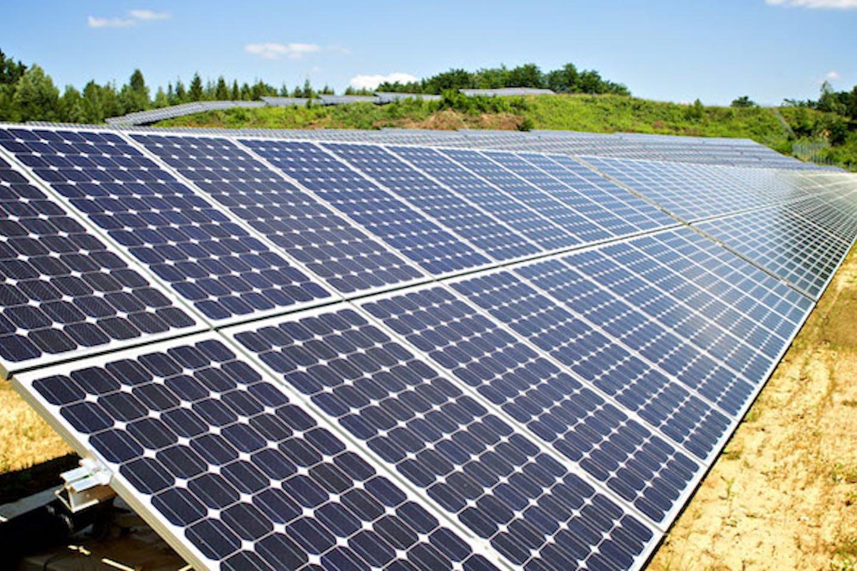 generic photo of solar panels