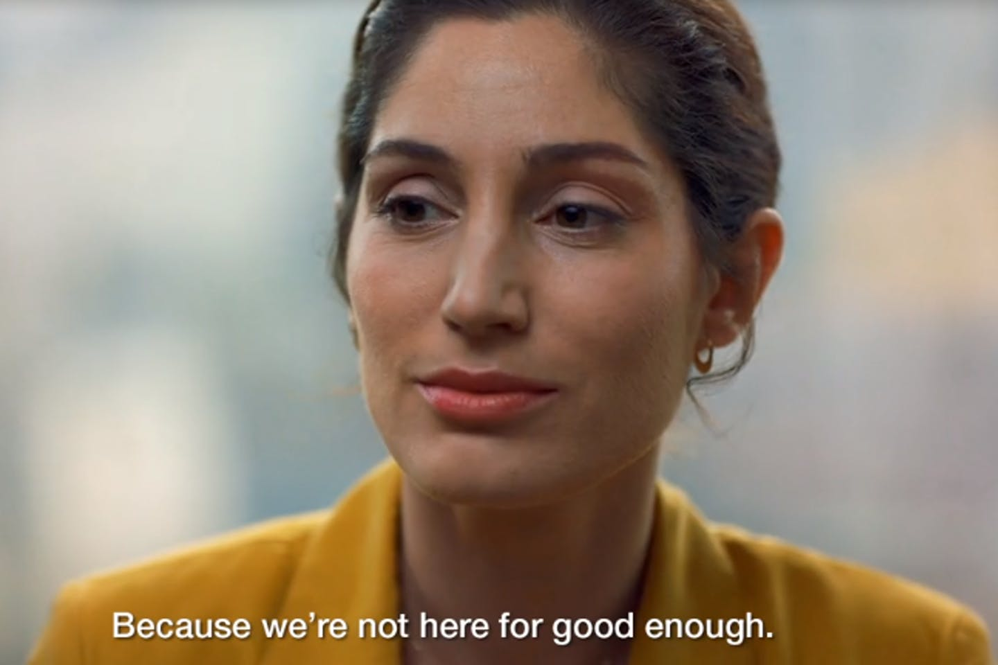 Standard Chartered Bank advertisement. 'We're hear for good'