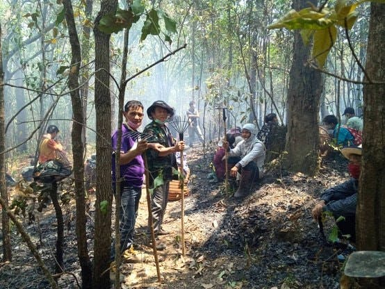 Karen people fighting forest fires 2