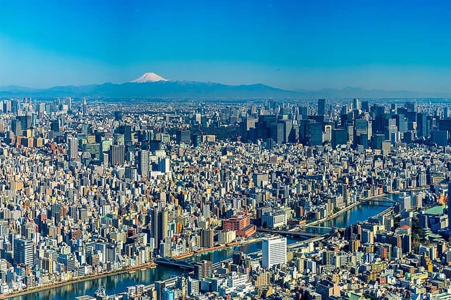 Tokyo, densely populated city