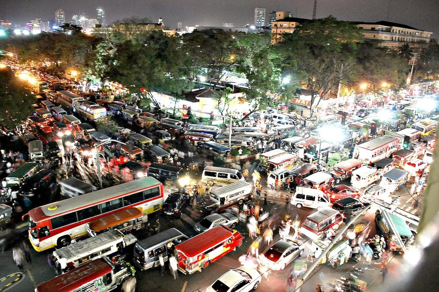 Traffic in Manila, the Philippines.