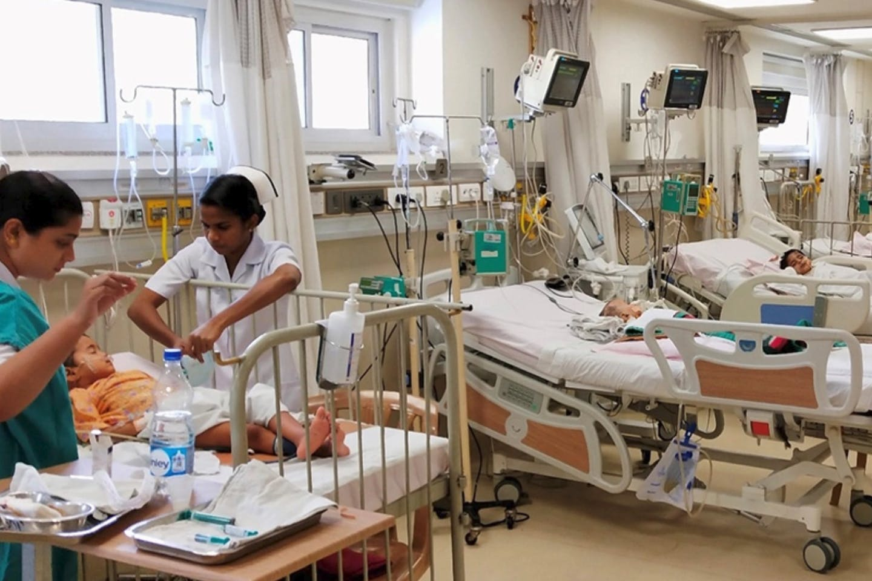pediatric ward in a hospital in India