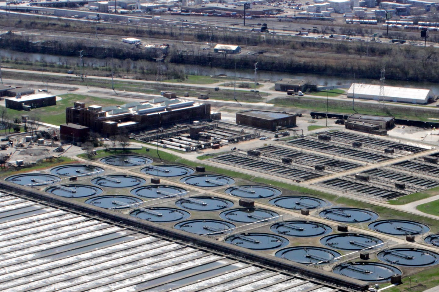 wastewater treatment plant in Cicero
