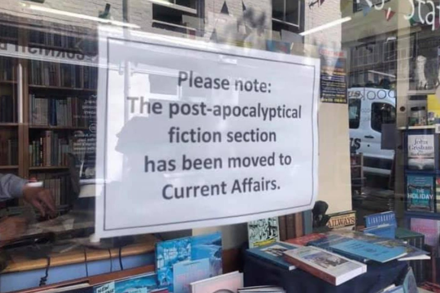 The post-apocalyptical fiction section has been moved to current affairs.