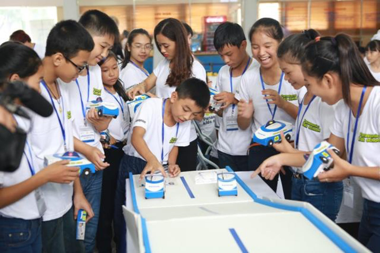 The Panasonic Kids School programme reached approximately 2.8 million young people around the world. Image: Panasonic