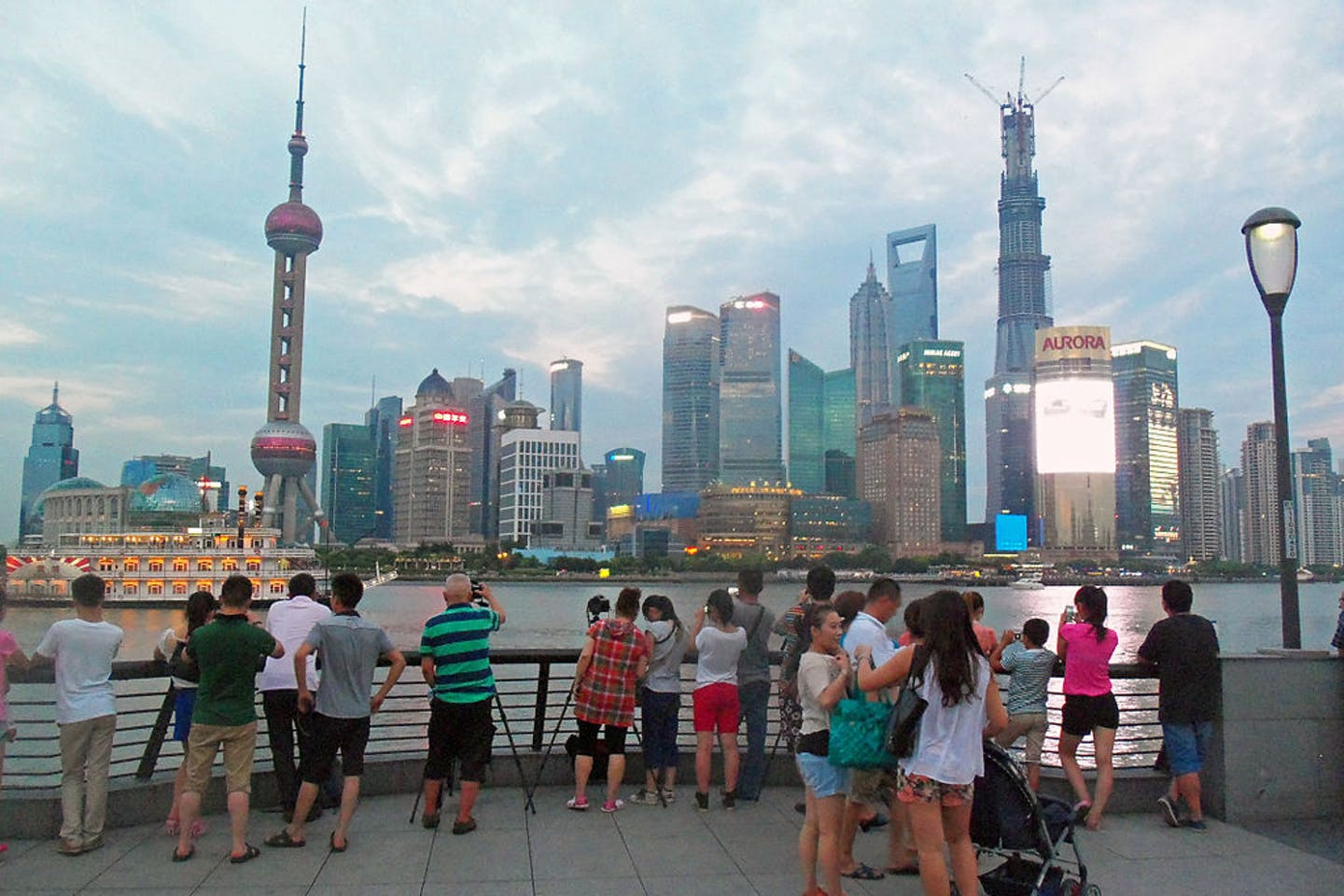 tourists in shanghai
