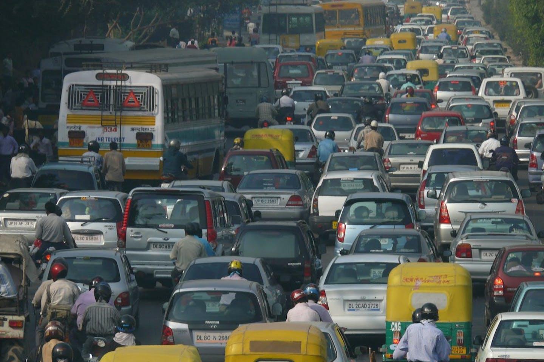 traffic jam new delhi