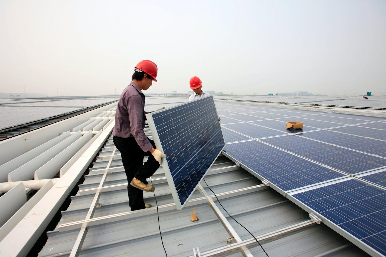 SHANGHAI HONGQIAO SOLAR ROOF INSTALLATION