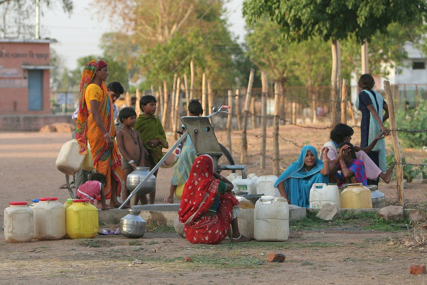 Collecting water in Rajasthan