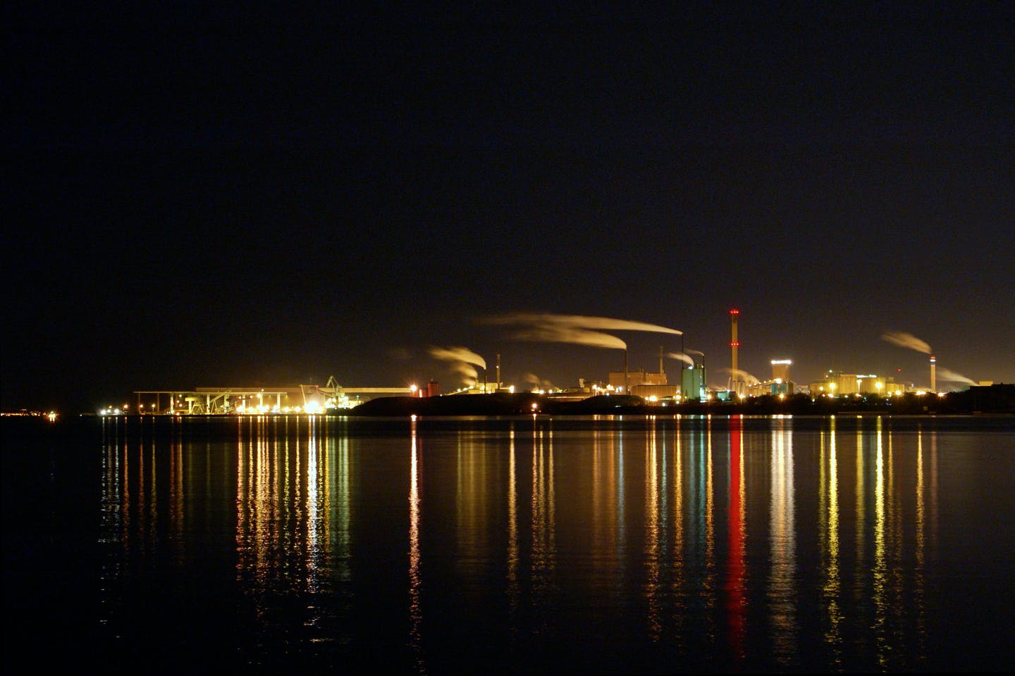 power plant by the water in sweden