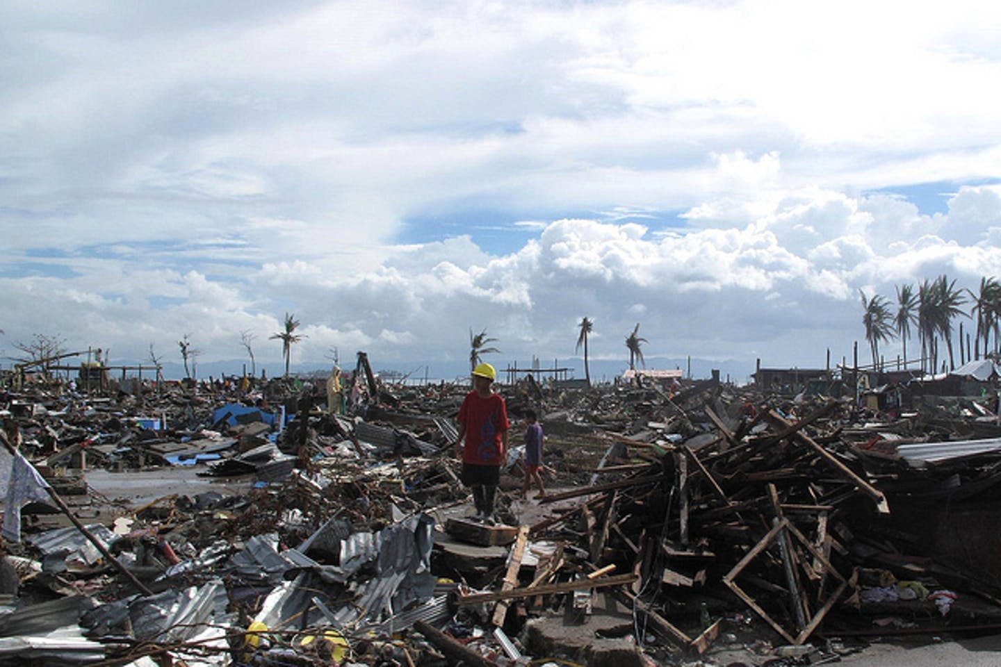Devastated Tacloban City in the Philippines