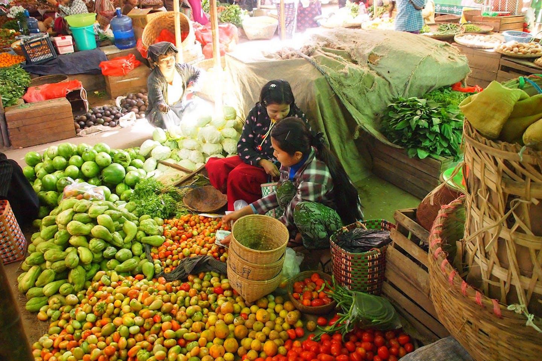 vegetable market myanmar