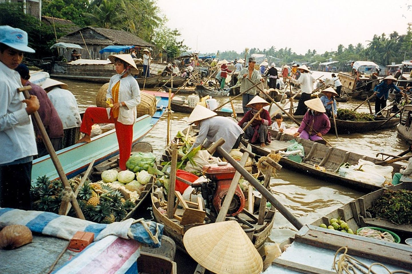 Floating market Vietnam