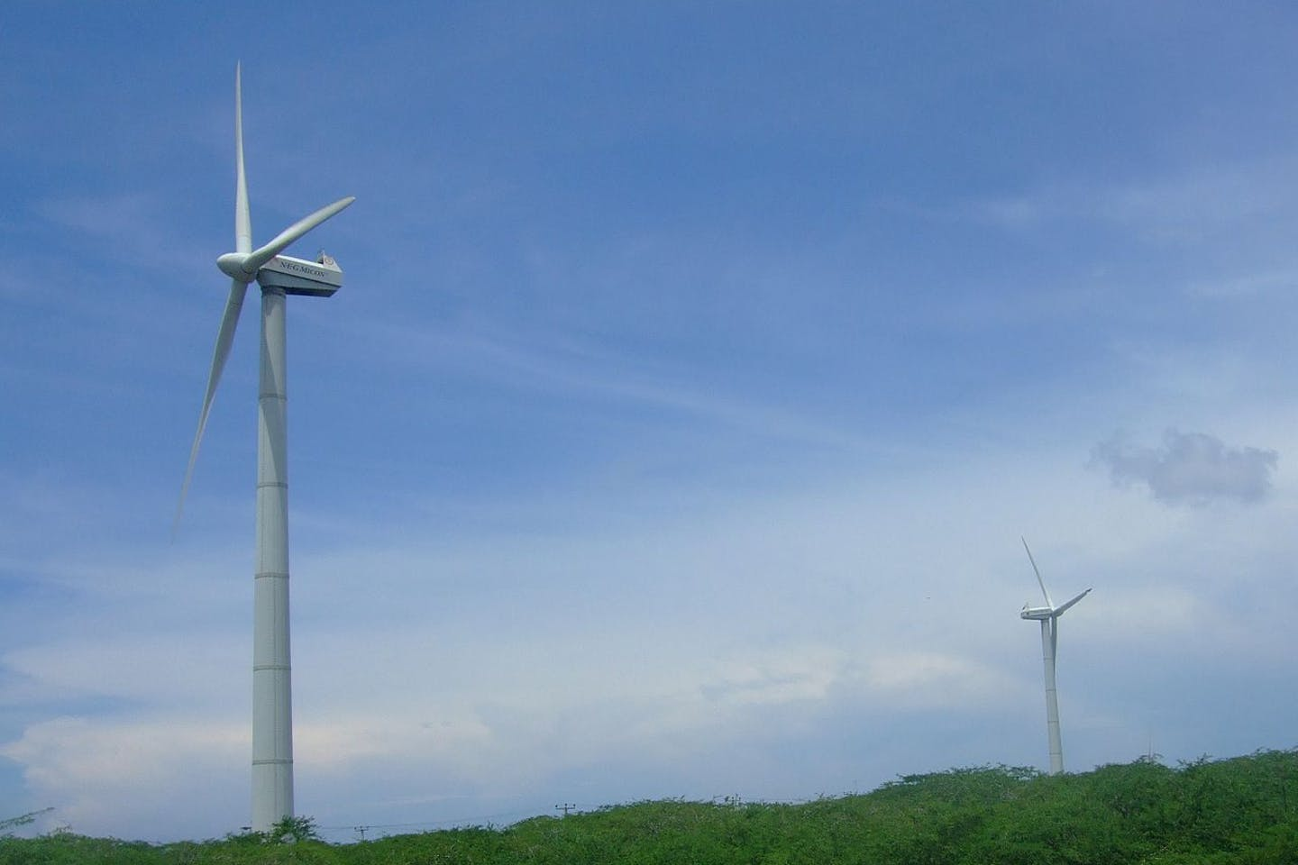 Hambantota wind farm in Sri Lanka