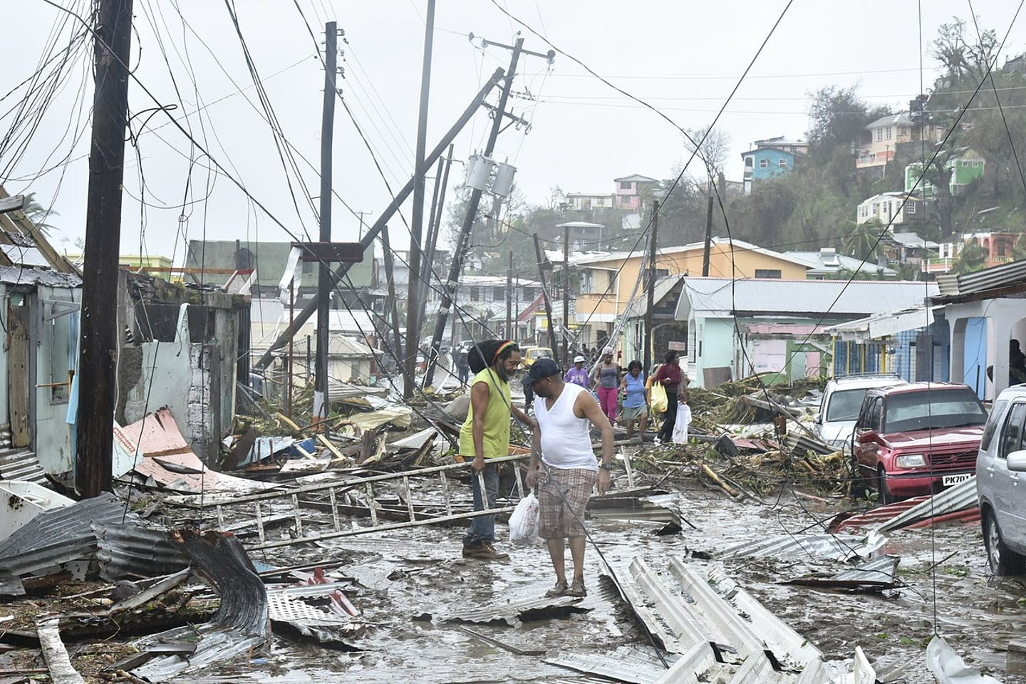 Hurricane Maria destruction in Dominica