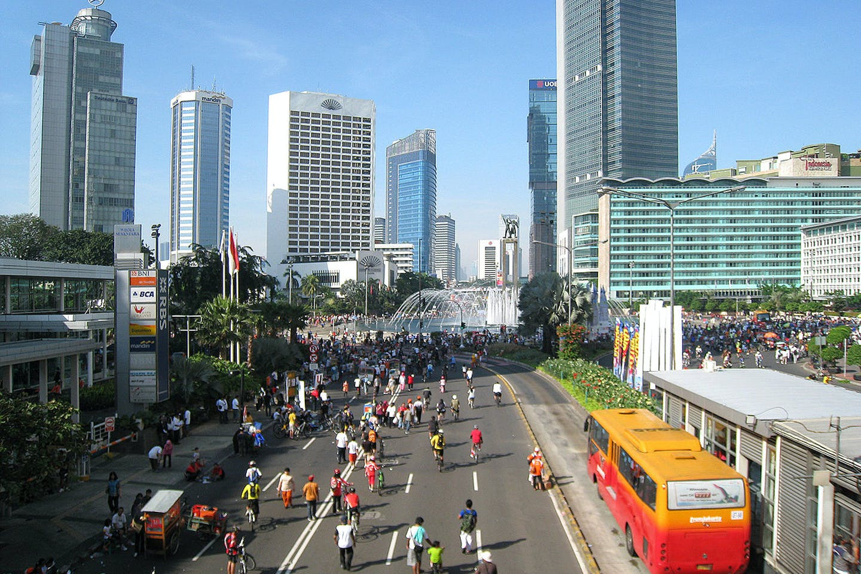 Car-free day in Jakarta