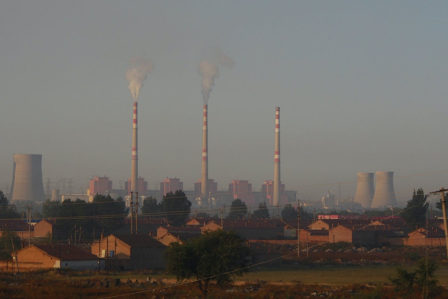 emissions from power plants in China