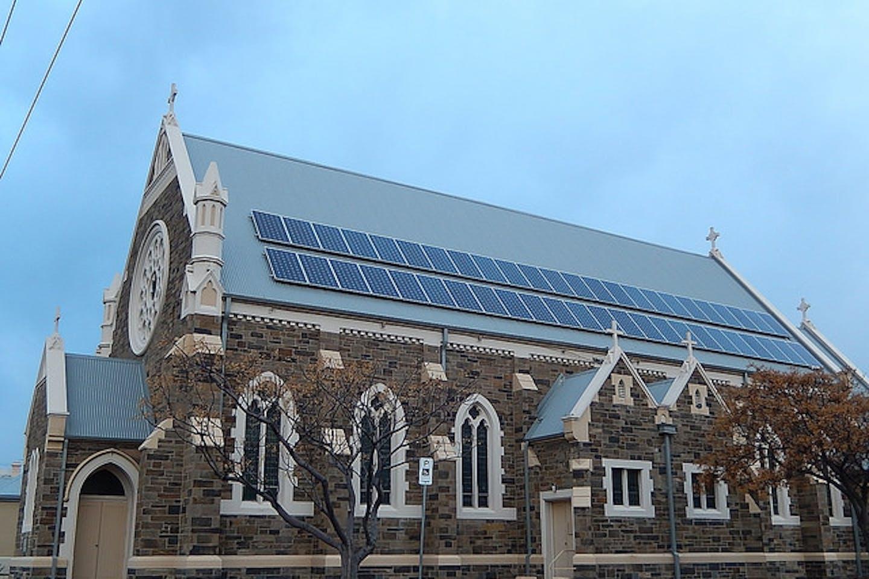 solar panels on church roof