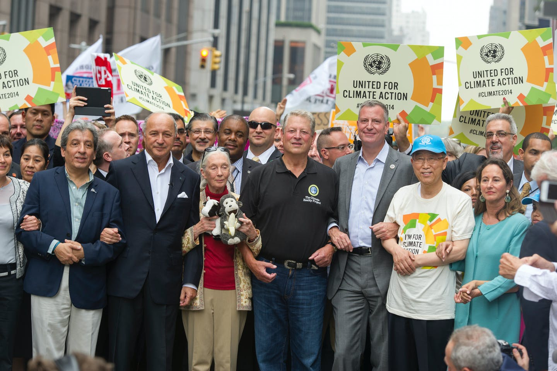 UN climate summit march