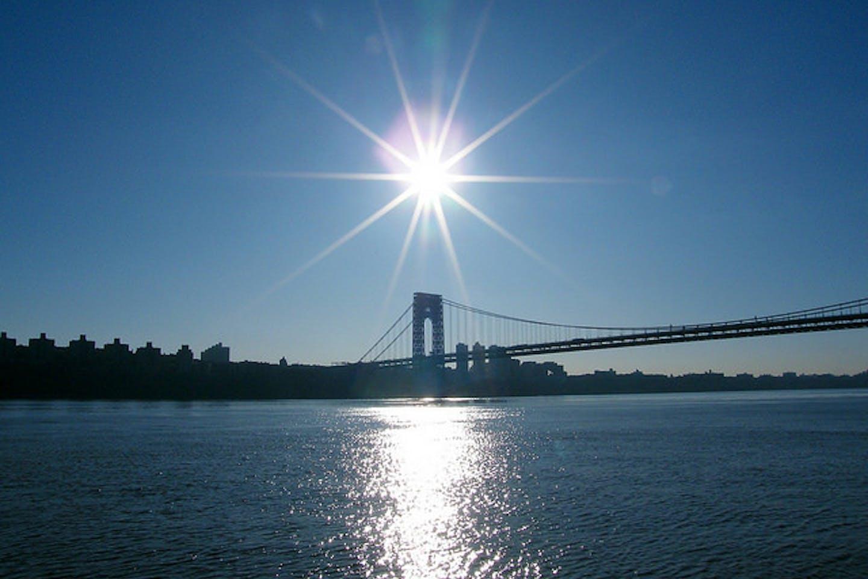 sun over Washington Bridge