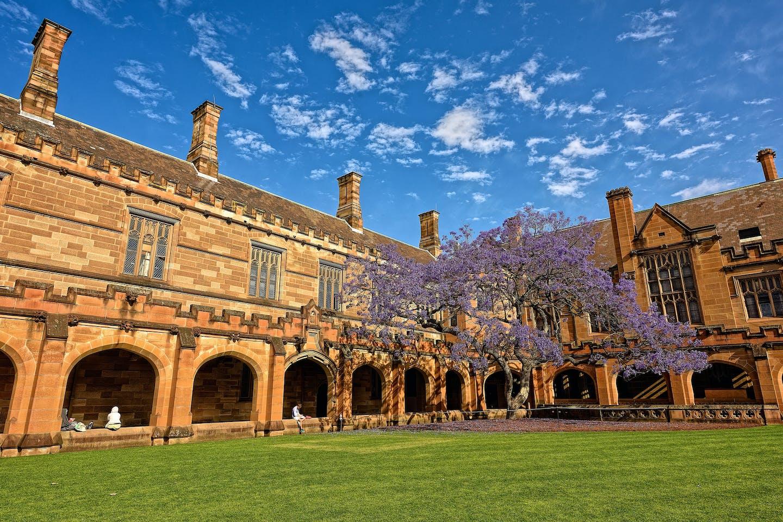 sydney university courtyard