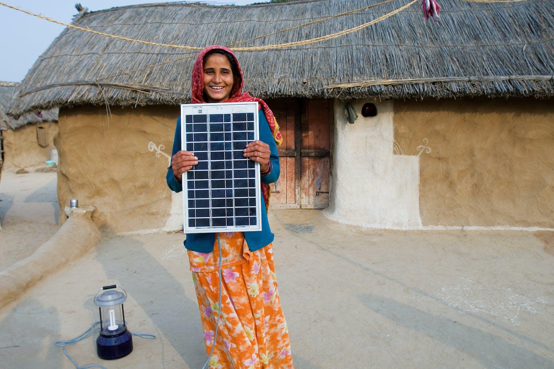 rajasthan villager solar panel