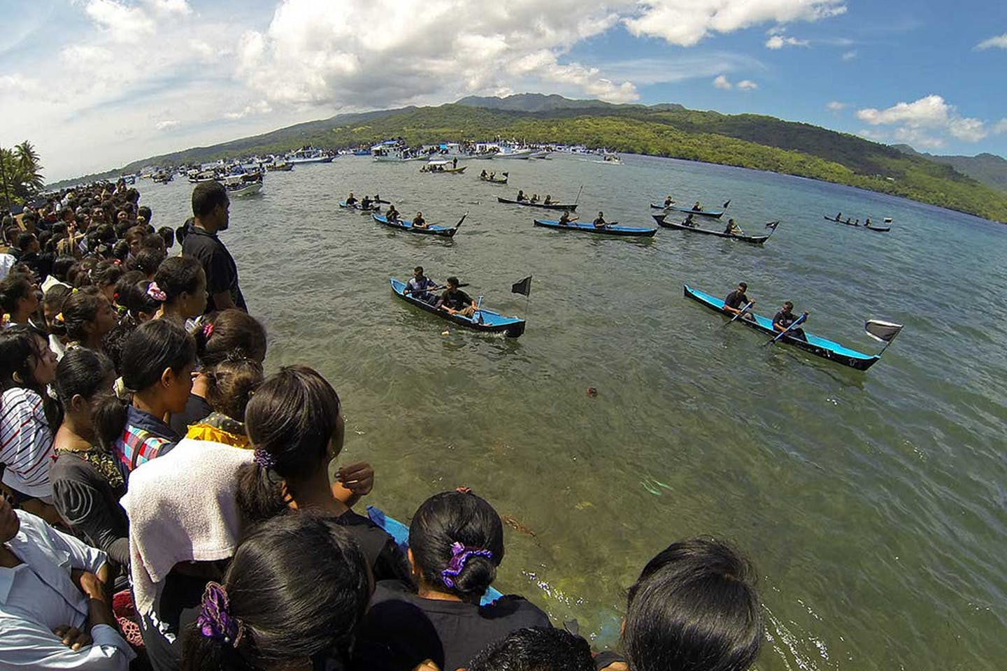 """The Larantuka Strait, which by 2019 is to be connected by an 800 metre-long bridge with a built-in 115 MW-capacity tidal power plant. <a href=""""picture hyperlink"""">Johanes Randy Prakoso</a>, <a href=""""https://creativecommons.org/licenses/by-nc-nd/2.0/</a>"""