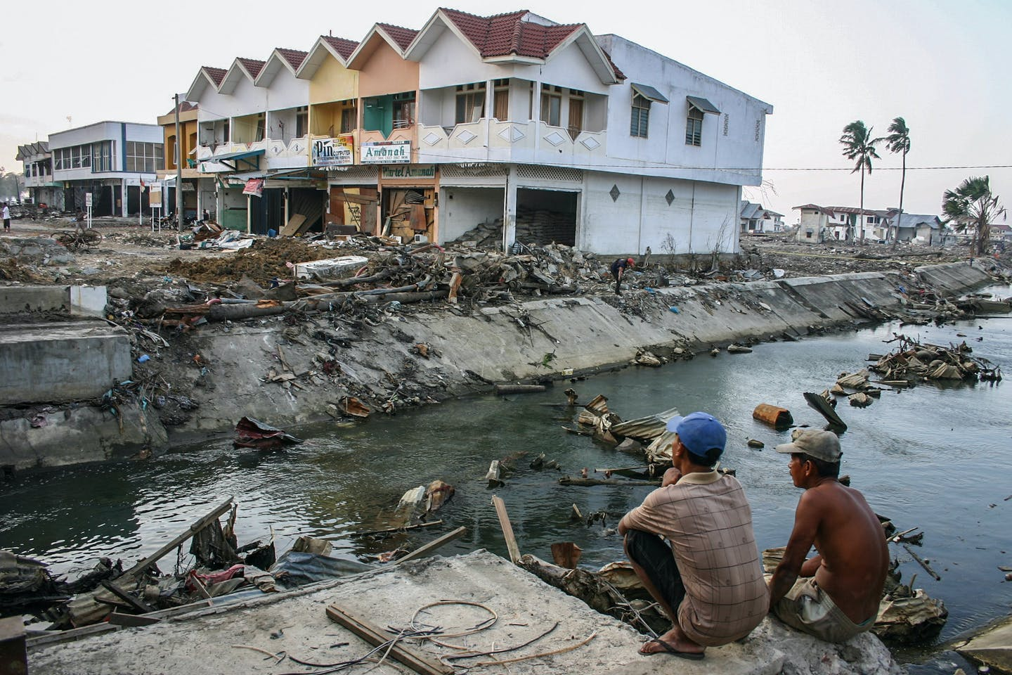 The aftermath of the Boxing Day tsunami in Banda Aceh, Indonesia