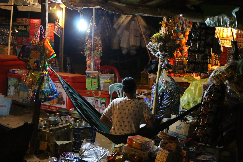 siam reap at night cambodia