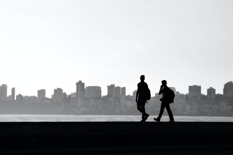 Mumbai city in the background