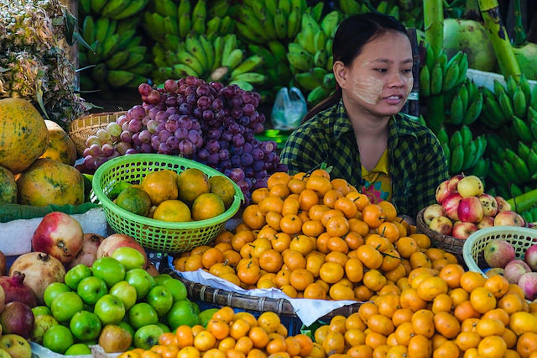 fruit stall in Burma