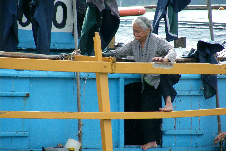 agile elderly woman