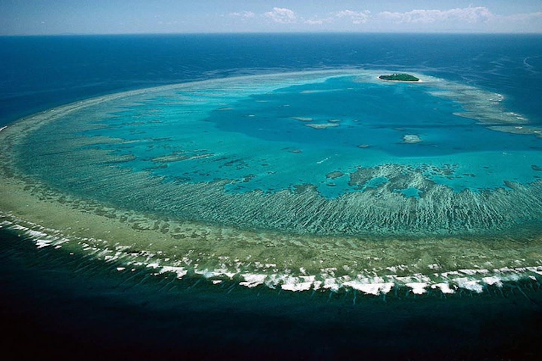 Ocean over The Great Barrier Reef