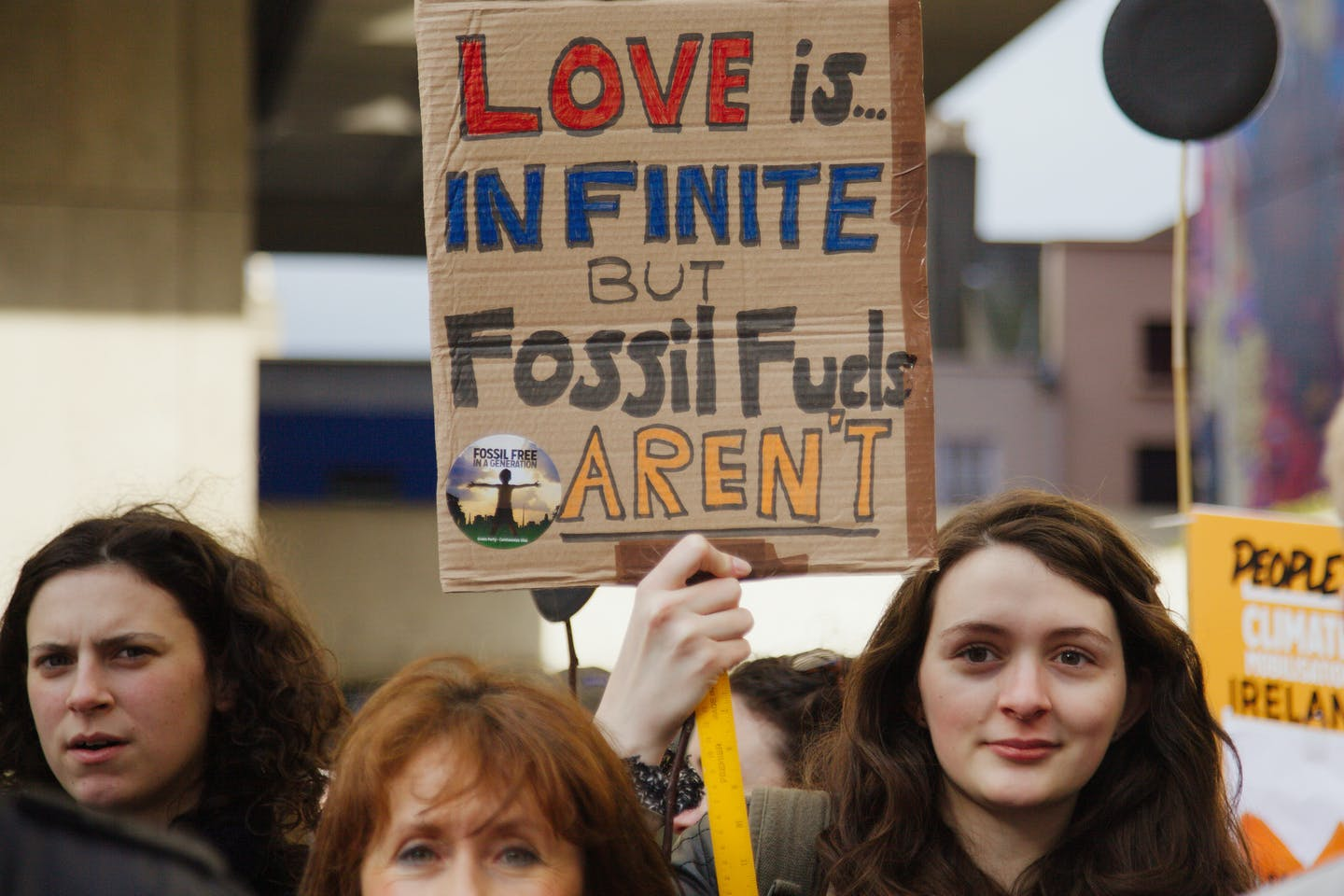 vday fossil fuel protest