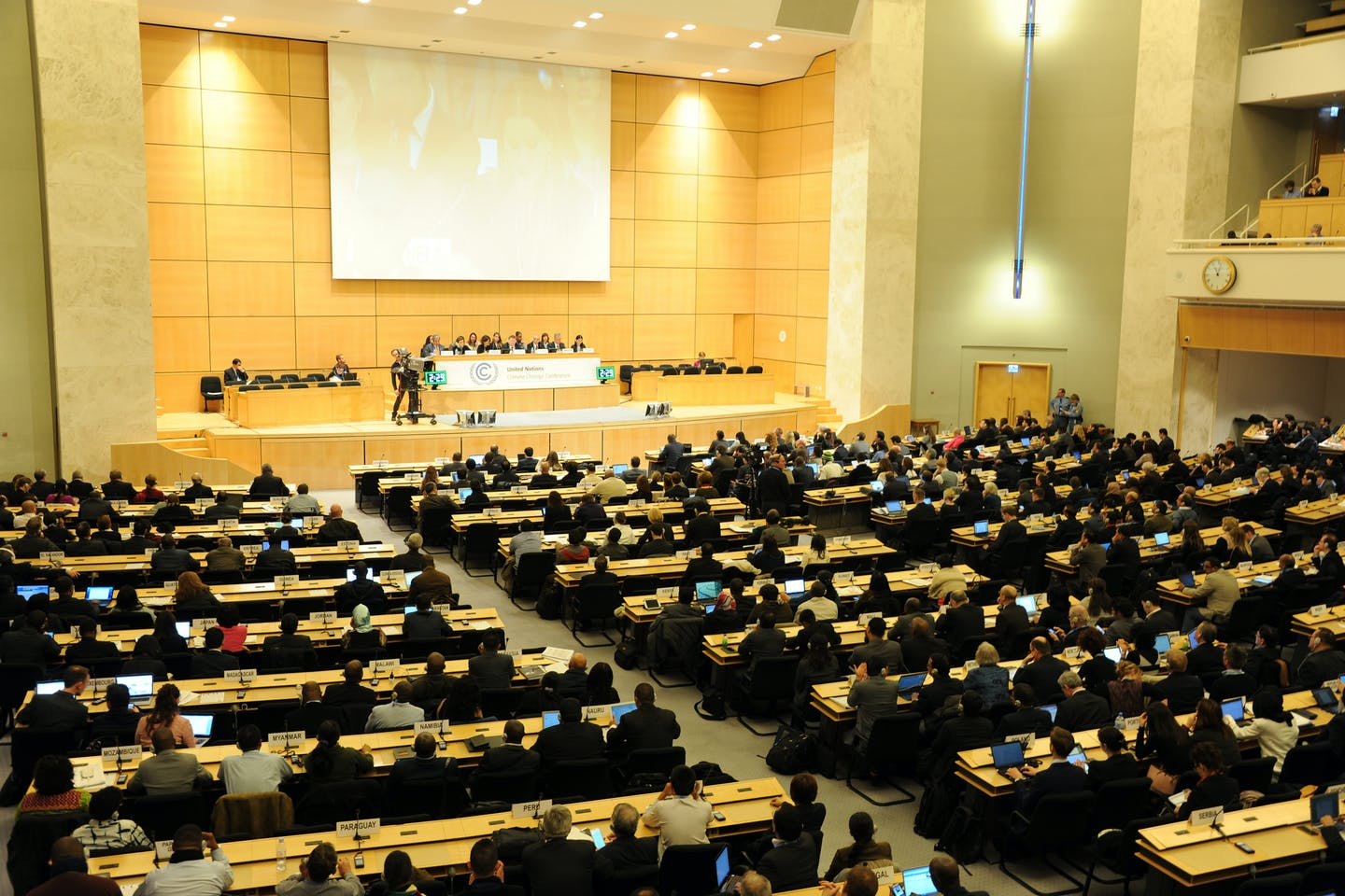 Geneva climate conference opening plenary
